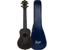 Укулеле (гавайская гитара) FLIGHT TUSL35 BK Travel LONG NECK сопрано