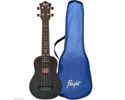 Укулеле (гавайская гитара) FLIGHT TUS35E BK Travel со звукоснимателем сопрано