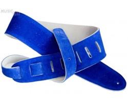 Ремень гитарный D'ANDREA CS202 замша, цвет синий