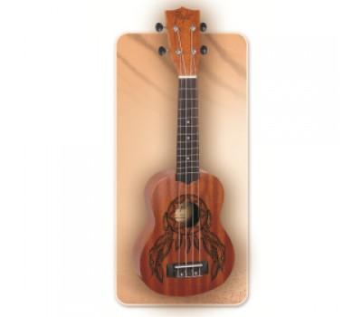 """Укулеле (гавайская гитара) FLIGHT NUS350 DC рисунок """"Ловец снов"""" сопрано, с чехлом"""