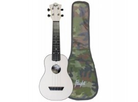 Укулеле (гавайская гитара) FLIGHT TUS35 WH Travel сопрано