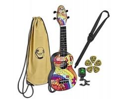 Укулеле (гавайская гитара) ORTEGA K2-68 Keiki Desingner Series сопрано с чехлом и тюнером