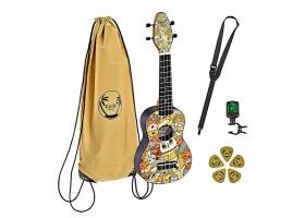 Укулеле (гавайская гитара) ORTEGA K2-VP Keiki Desingner Series сопрано с чехлом и тюнером