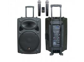 Звуко-усилительный комплект HL AUDIO USK15A-BT 350Вт (активная ак.система, два радиомикрофона)