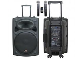 Звуко-усилительный комплект HL AUDIO USK12A-BT 250Вт (активная ак.система, два радиомикрофона)