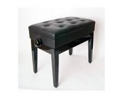 Банкетка FLEET BH102-8 регулируемая, прямые фигурные ножки, цвет черный, кож.зам.