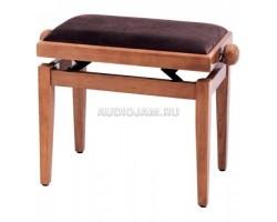 Банкетка GEWA FX F900.558 регулируемая цвет коричневый, глянец, обивка велюр