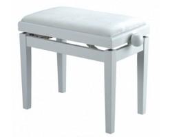 Банкетка RIN HY-PJ018A-Gloss-White регулируемая, цвет белый, кож.зам.