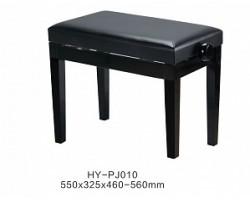 Банкетка RIN HY-PJ010-Gloss-Black регулируемая, цвет черный, кож.зам.