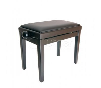 Банкетка RIN HY-PJ018A-Matt-Black регулируемая, цвет черный, кож.зам.