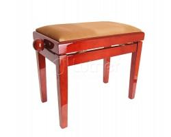 Банкетка RIN HY-PJ018B-Gloss-Dark-Maho регулируемая, цвет темное красное дерево 55х33х48-58 см
