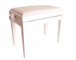 Банкетка RIN HY-PJ018A-Satin-White регулируемая, цвет белый, кож.зам.