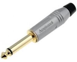 Джек AMPHENOL ACPM-GN-AU моно 6,3 мм серебристый корпус