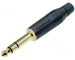 Джек AMPHENOL ACPS-GB-AU стерео 6,3 мм черненький корпус