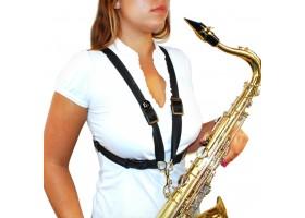 Ремень BG France S41SH для саксофона Alto/Tenor черный с пластик.карабином