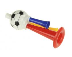 Дудка болельщика с футбольным мячом 22 см пластик