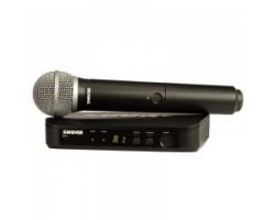 Радиосистема SHURE BLX24E/PG58 вокальная с передатчиком PG58 50Гц-15кГц