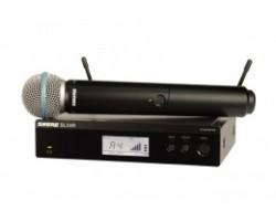 Радиосистема SHURE BLX24RE/SM58  вокальная с капсюлем SM58, кронштейны для крепления в рэк