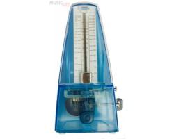 Метроном ITONE MK222TB механический с выделением сильной доли, цвет прозрачный синий, пластик