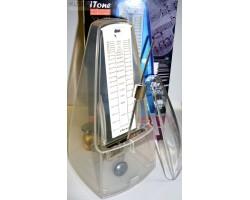 Метроном ITONE MK222TW механический с выделением сильной доли, цвет прозрачный, пластик