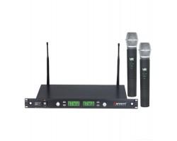 Радиосистема KARSECT KRU6/KST-7U двухантенная UHF 2 ручных микрофона