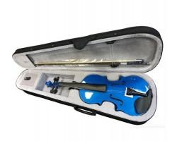 Скрипка 4/4 BRAHNER BVC370MBL окрашенная цвет синий, со смычком в футляре