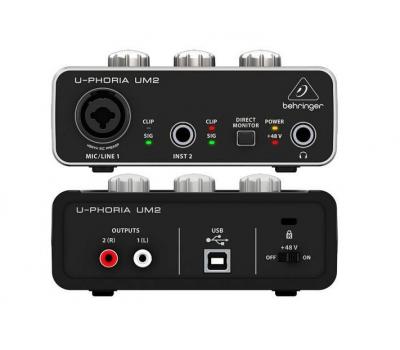 USB-интерфейс BEHRINGER UM2 для записи микрофонов и инструментов
