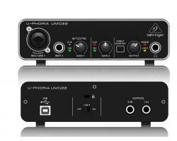 USB-интерфейс BEHRINGER UMC22 для записи микрофонов и инструментов