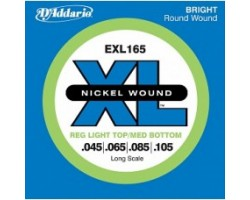 Струны D'ADDARIO EXL165XL 45-105 Long для бас-гитары