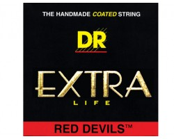 Струны DR RDB45 45-105 Extra Life Red Devils для бас-гитары