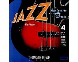 Струны THOMASTIK JF344 Jazz Flat Wound 43-100 для бас-гитары