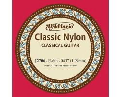 Струна D'ADDARIO J2706 Classical 6 струна нейлон