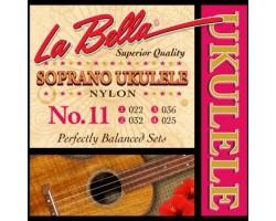 Струны LA BELLA Ukulele11 для укулеле сопрано, нейлон