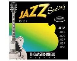 Струны THOMASTIK JS112 Jazz Swing 12-50 сталь/никель плоская навивка для полуакустической гитары
