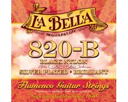 Струны LABELLA 820B нейлон Flamenco Black/Silver