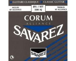Струны SAVAREZ 500AJ Alliance Corum сильного натяжения карбон/серебрянная обмотка для классической гитары