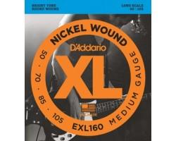 Струны D'ADDARIO EXL160 XL 50-105 д/бас-гитары Long-Medium