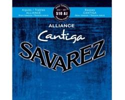 Струны SAVAREZ 510AJ Alliance Cantiga сильного натяжения карбон/серебрянная обмотка для классической гитары