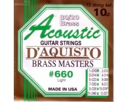 Струны D'AGUISTO 660L бронза для 12-струнной акустической гитары