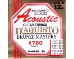 Струны D'AQUISTO 780M фосфор/бронза для 12-струнной акустической гитары