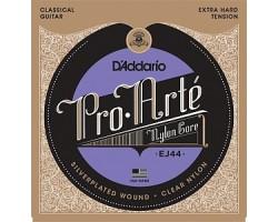 Струны D'ADDARIO EJ44 Pro Arte нейлон clear/silver жесткого натяжения для классической гитары