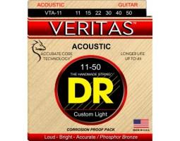Струны DR Veritas VTA11 11-50 фосфор.бронза для акустической гитары