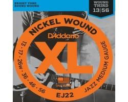 Струны D'ADDARIO EJ22 13-56 никелированная навивка для электрогитары