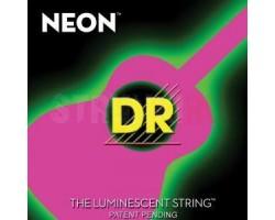 Струны DR NPA11 11-50 Neon Pink Light фосфор/бронза для акустической гитары