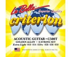Струны LA BELLA C500T 10-50 gold для акустической гитары