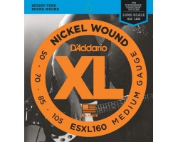 Струны D'ADDARIO ESXL160 50-105 для бас-гитары Steinberger Regular Double Ball