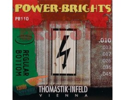 Струны THOMASTIK PB110 Power-Brights Regular Bottom 10-45 д/эл.гитары
