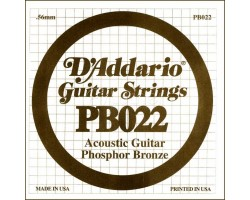 Струна D'ADDARIO PB022 д/акуст.гитары фосф.бронза