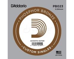 Струна D'ADDARIO PB023 д/акуст.гитары фосф.бронза
