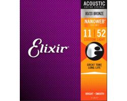 Струны ELIXIR 11027 NanoWeb 11-52 бронза д/ак.гитары
